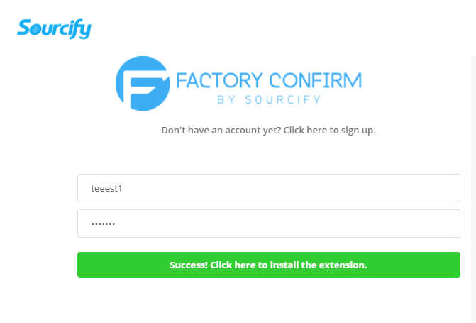 factory confirm success